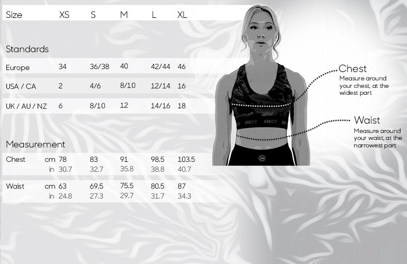 Size guide - WECY Sports bra